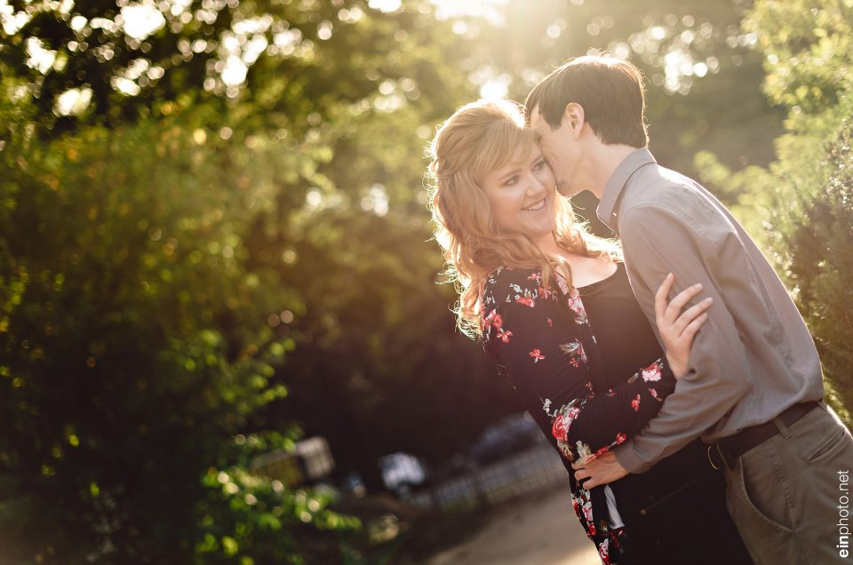 Brooklyn Botanical Garden Engagement Session
